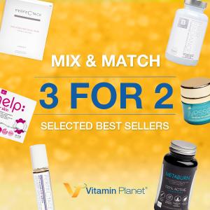 买3免1+线上7.5折 任意搭配Vitamin Planet 精选热销单品大促 知名燃脂片、补水面膜都有
