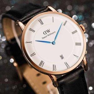 低至5.6折DW 男女款时尚休闲腕表