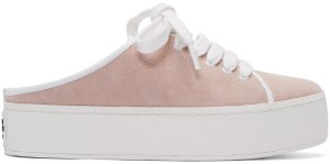 Opening Ceremony: Pink Suede Cici Lace-Up Slide Sneakers | SSENSE