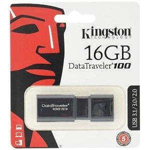 KingstonDigital 16GB 100 G3 USB 3.0 DataTraveler