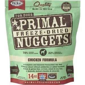 Primal Chicken Formula Nuggets Grain-Free Raw Freeze-Dried Dog Food 14-oz