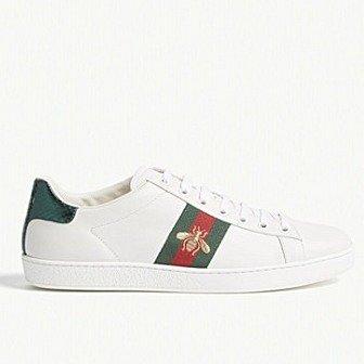 女士蜜蜂小白鞋