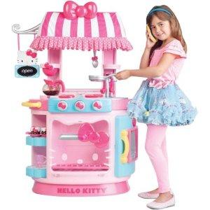 "$49.88Hello Kitty 梦幻小厨房玩具/咖啡站,声光配合""烹饪""过程"