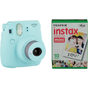 $54.95FUJIFILM Instax Mini 9 Ice Blue Bundle