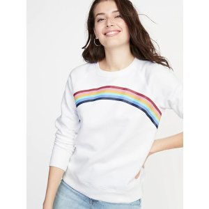 GapRelaxed Graphic Crew-Neck Sweatshirt for Women