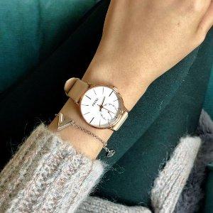 正价85折+折扣区低至6折 £89收唐艺昕同款ADEXE高冷英伦腕表 高贵是品质冷傲的是态度