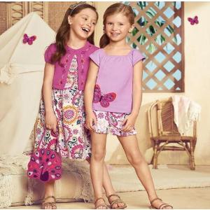 7折 孔雀包包$28Gymboree 小菇凉们的粉紫夏日 金色发夹$9、小象短袖$23