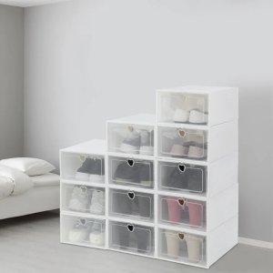 低至5折 收纳鞋盒12个$29Wayfair官网千款鞋架、鞋柜、穿鞋凳优惠热卖