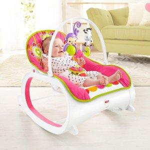 $45.65 (原价$59.99)Fisher-Price 费雪 五彩花卉婴幼儿震动安抚摇椅