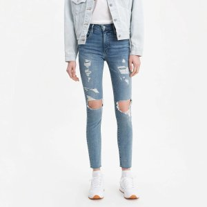 Levi's721 High Rise Ripped Skinny Jeans