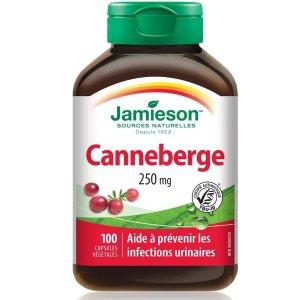 $7.66 (原价$11.47)史低价:健美生 Jamieson 蔓越莓精华  维护泌尿系统健康