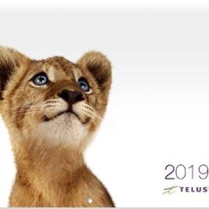 免费Telus 免费赠送2019年日历