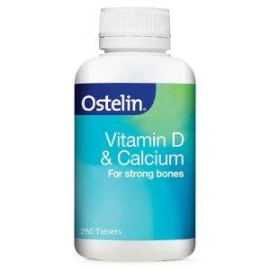 限时包税直邮到手¥109限今天:Ostelin  维生素D+钙片 250片  全家可用