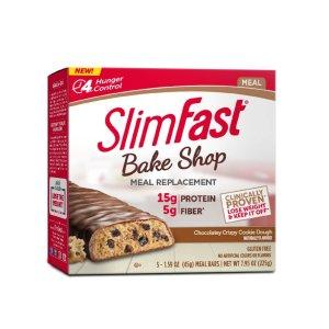 Slimfast花生酱巧克力代餐曲奇, 2.4oz, 4包装