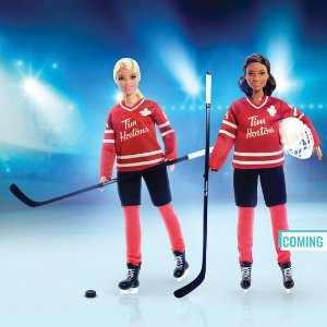 曲棍球运动员芭比$29.99Tim Hortons & 芭比娃娃跨界合作 加拿大特色点满