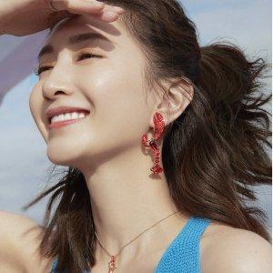 江疏影同款 龙虾耳环补货比黑五低:Swarovski 官网5折+2件9折 封面同款耳线€35.55