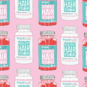 独家8折 套装热销,英国护发类零售冠军Hairburst官网大促粉丝力推 治愈脱发呵护秀发的新晋ins风单品