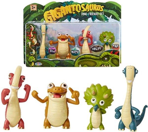 4只小恐龙手办