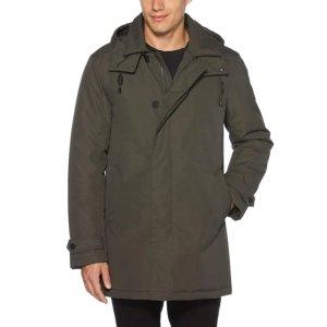 Perry EllisHooded Overcoat