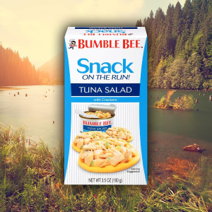 $12BUMBLE BEE Snack On The Run Chipotle Tuna Salad with Crackers Kit, Pack of 12