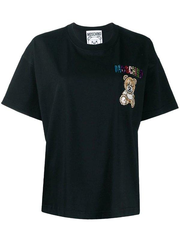 黑色小熊T恤