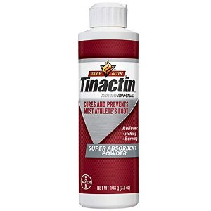 $5.57Tinactin Athlete's Foot Super Absorbent Powder, Tolnaftate 1% Antifungal AF Treatment, Proven Clinically Effective Treatment of Most Athlete's Foot, Keeps Feet Dry, 3.8 Ounces (108 Grams) Bottle
