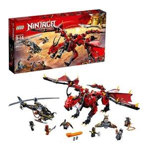 $34.99(原价$69.99) 史低半价史低价:LEGO NINJAGO 系列 烈焰谍影神龙 70653
