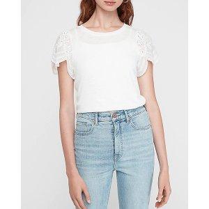 Express蕾丝T恤
