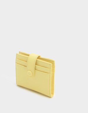 Yellow Snap Button Card Holder | CHARLES & KEITH