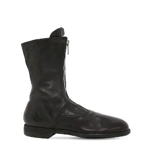 Guidi310 ZIP-UP FULL GRAIN LEATHER ARMY BOOTS