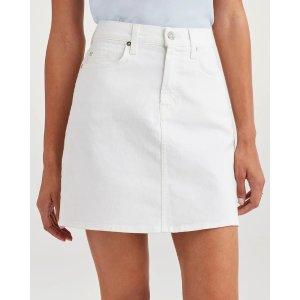 7 For All MankindMini Skirt in White Runway