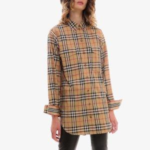 Burberry长款,95%棉经典格纹衬衫