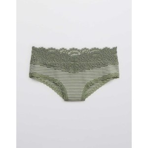 aerie5 For $25Cotton Eyelash Lace Cheeky UnderwearCotton Eyelash Lace Cheeky Underwear