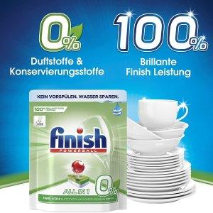 55颗仅€7.48 一颗全搞定Finish All-in-1 洗碗球 清洁顽固油污 餐具锃亮 可生物降解