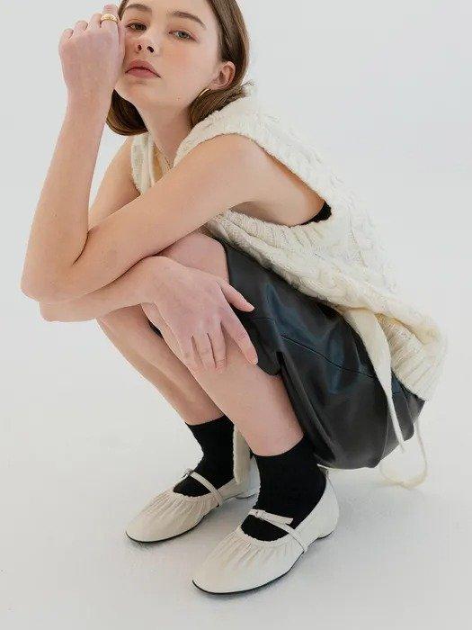 Mrc061 褶皱玛丽珍鞋