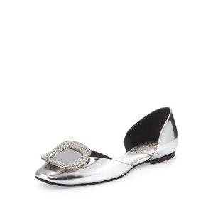 Roger VivierChips Metallic Ballet 平底鞋