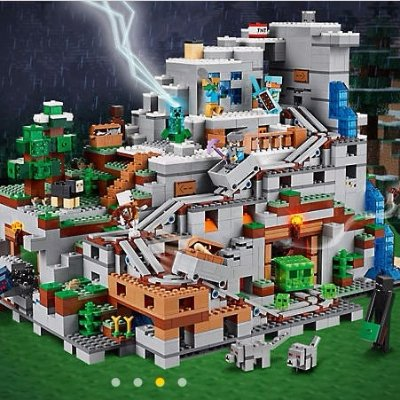 $249.99 + Free Gift New Sets: Minecraft™ The Mountain Cave 21137 ...
