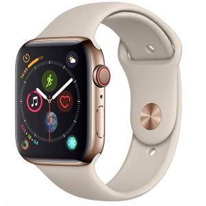 到手489欧 原价749欧 全德免邮Apple Watch Series 4 金色不锈钢表盘 GPS + LTE 石头灰运动表带