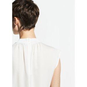 VinceRib Trim Silk Shell