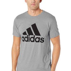 adidas Men's Athletics Badge Of Sport Tiny Script Tee $11.90
