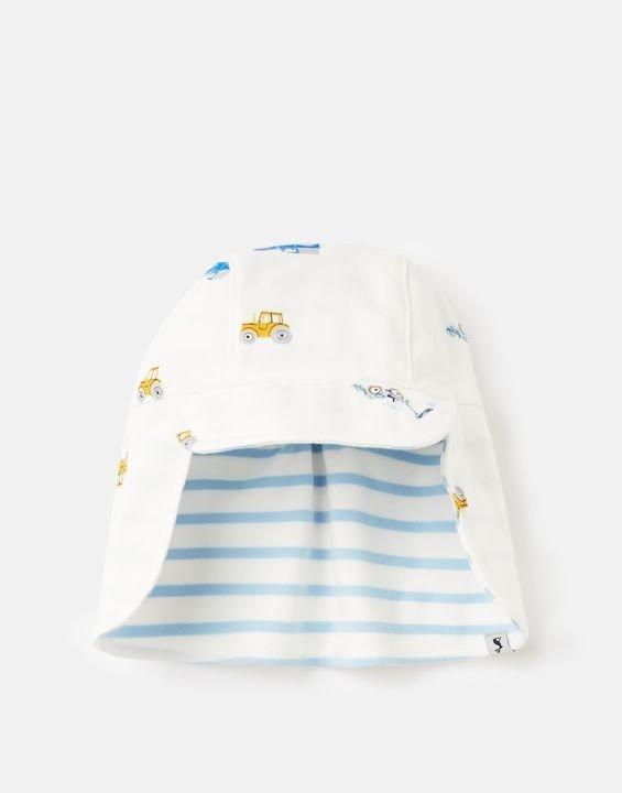 婴幼儿两面戴遮阳护颈帽