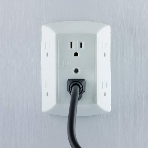 $10.99GE 6 Outlet Wall Plug Adapter Power Strip 2 Pack