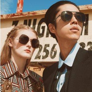 低至7折+线上试戴Gucci 时尚弄潮儿的墨镜 经典飞行员墨镜$427即将售完