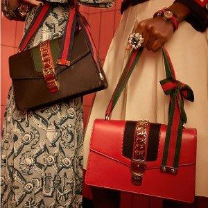 直接7折+额外9折 收Sylvie、酒神包英国买手店 LN-CC精选Gucci包包、服饰年中大促