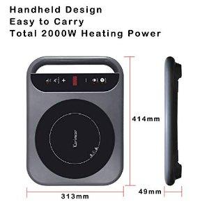 带手柄、便携式,快速加热,过热保护+童锁电磁炉