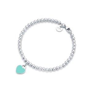 Tiffany & Co.Tiffany 蓝爱心手链