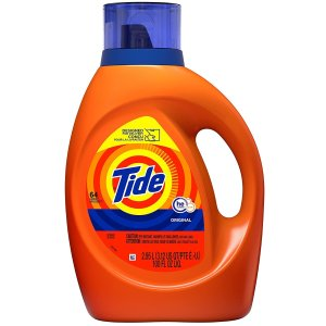 $8.97 无香款同价Tide 汰渍高效超洁洗衣液超大瓶 92oz装 可洗64次
