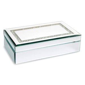 $15.9American Atelier Imitation Pearl Mirror Jewelry Box