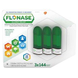 Flonase Allergy Relief, 3 Bottles