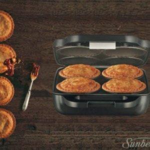$63.96 (原价$79.95)Sunbeam 同时烘焙4个Pie的机器